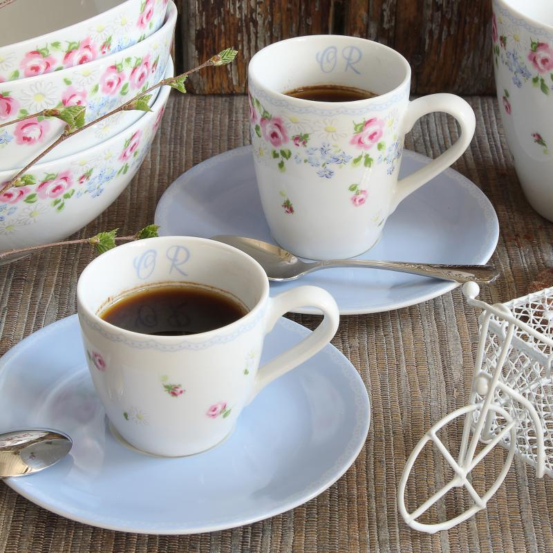 Cup and saucer 0.07l - espresso RoseLine