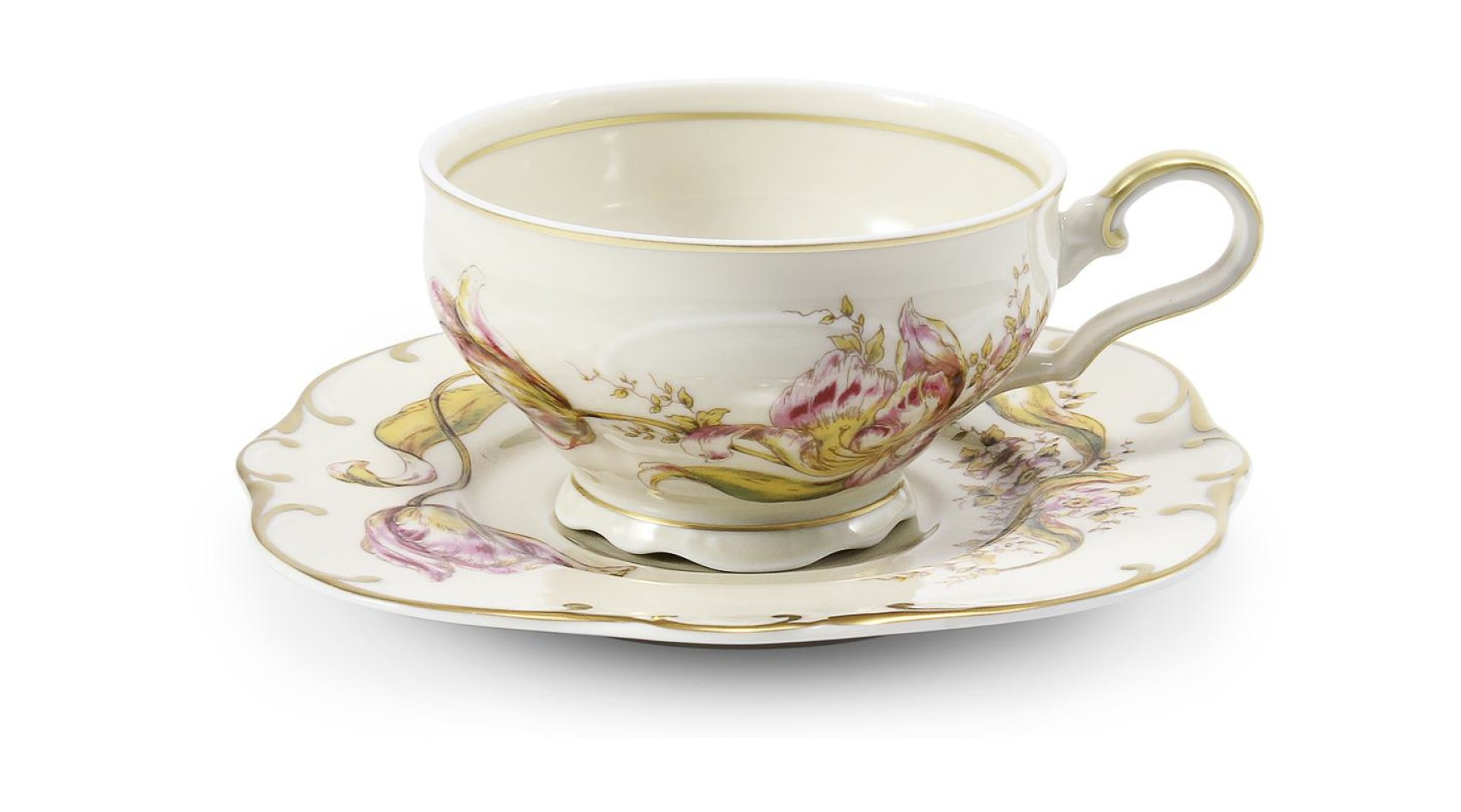 Cup and saucer Tulips