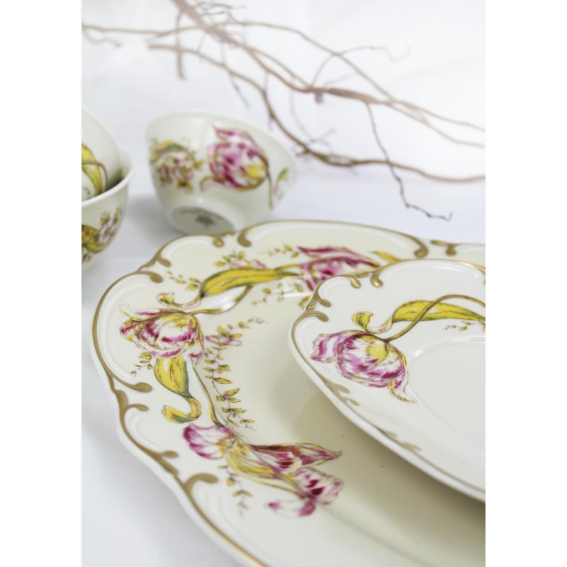 Plate set 18-piece Tulips
