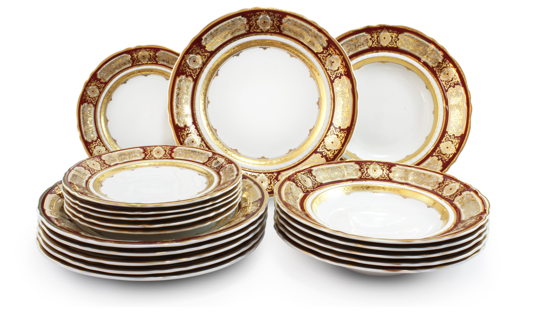 Plate set 18-piece - Magic brooch