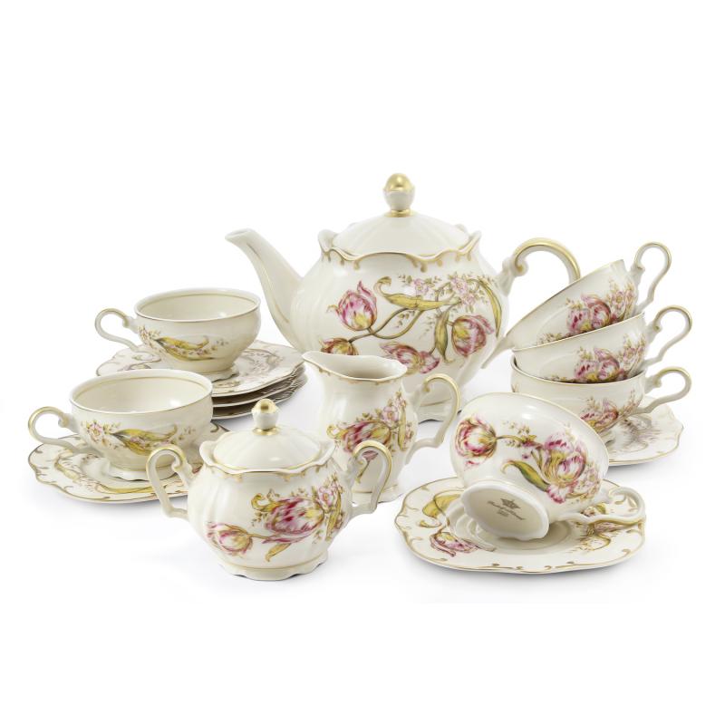 Tea set 15-piece Tulips