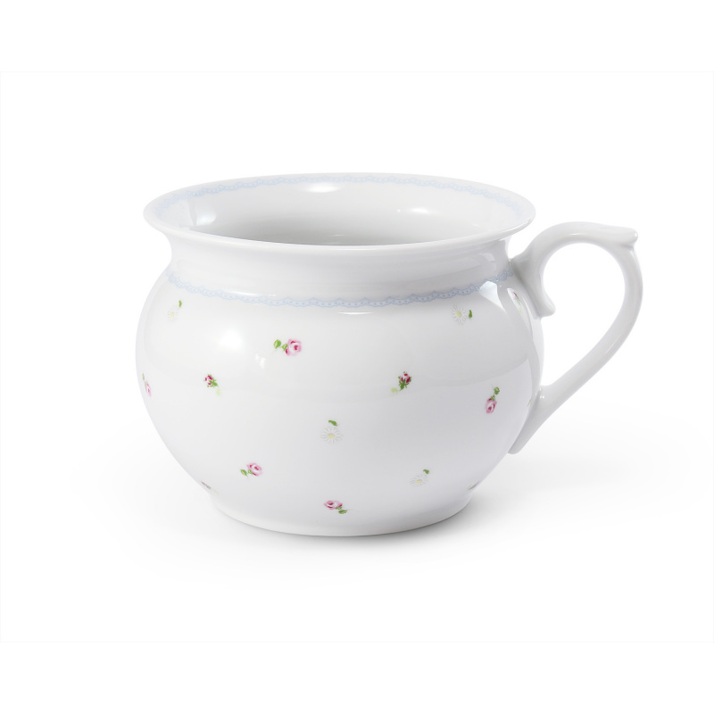 Night pot 17,5 cm with a handle RoseLine
