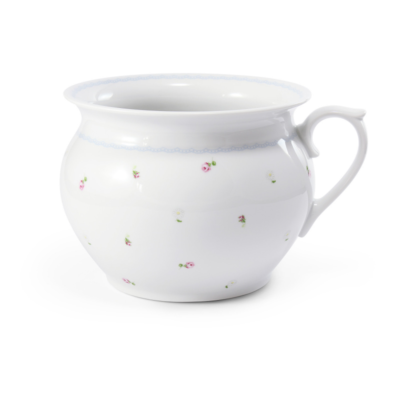 Night pot 19,5 cm with a handle RoseLine