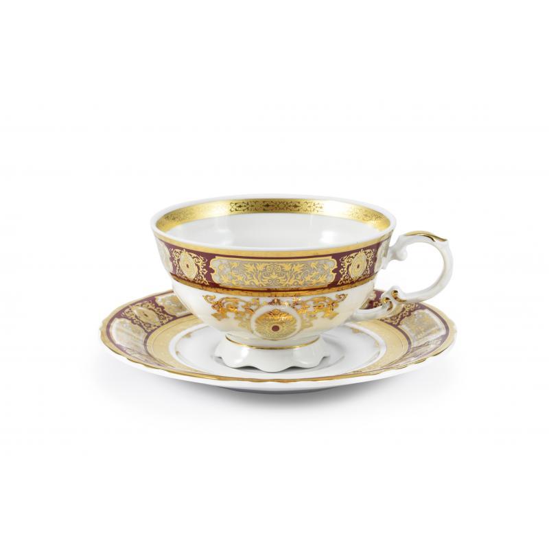 Tasse mit Untertasse Magische Brosche