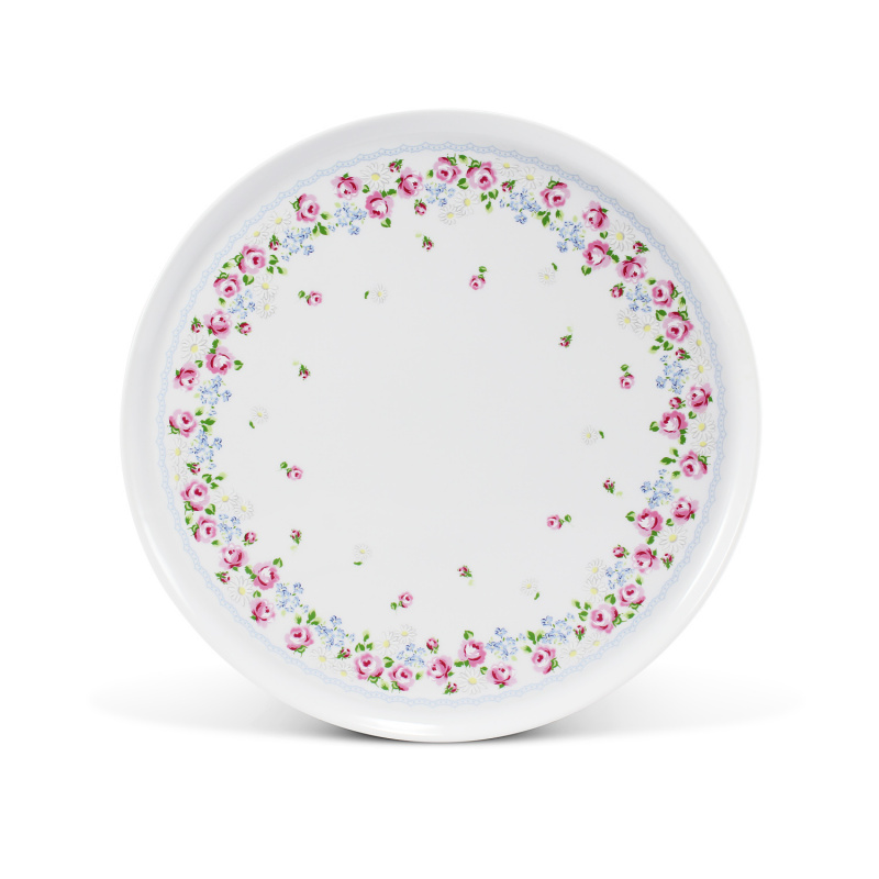 Cake plate on the foot 28 cm RoseLine