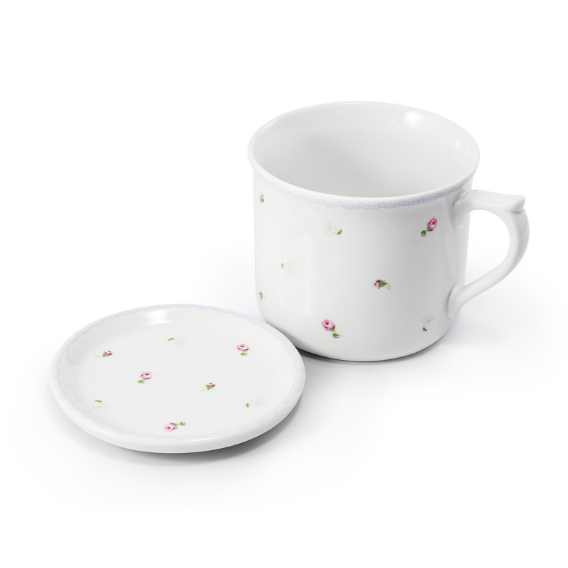 Mug 0.70 l with lid RoseLine