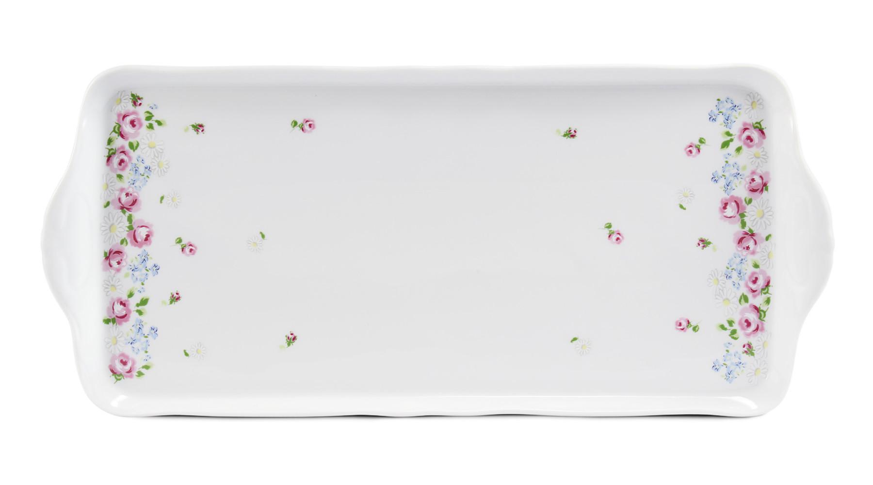 Podnos čtyřhranný 36 cm RoseLine