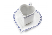 """Cup and saucer 0.20 l """"HEART"""" HyggeLine"""