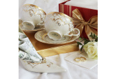Cup and saucer 0.20l Wedding sonata ivory