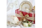 Tasse mit Untertasse 0,20 l Hochzeitsonate Elfenbein