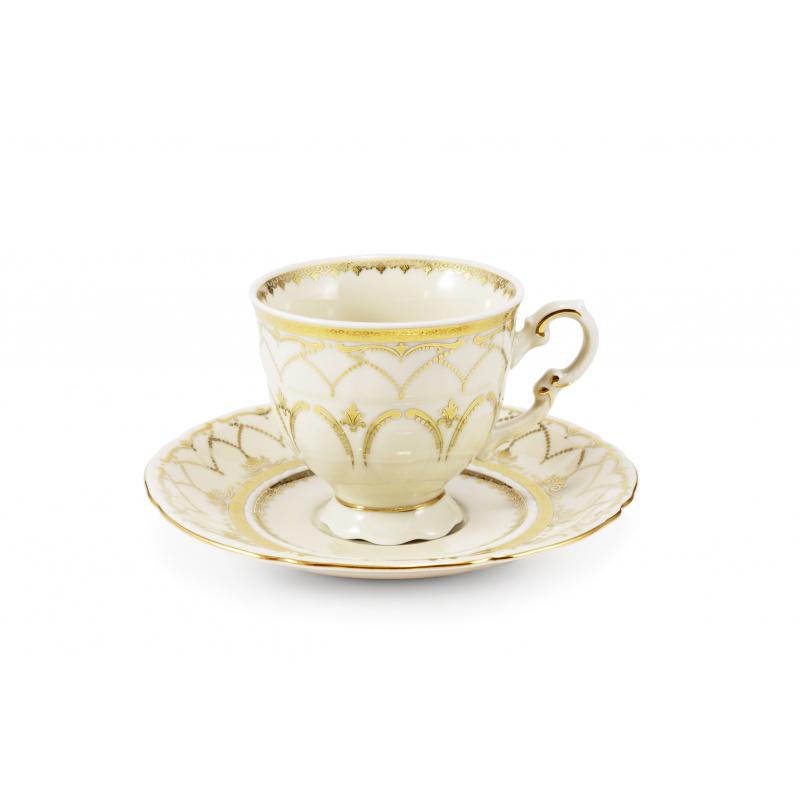 Tasse mit Untertasse 0,15 l Schloss Sonate Elfenbein