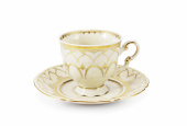 Cup and saucer 0.15 l Wedding sonata ivory