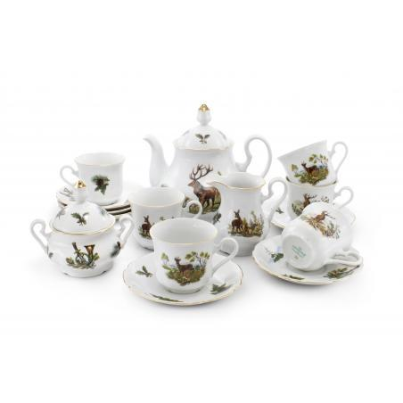 Tea set 15-piece - Hunting...