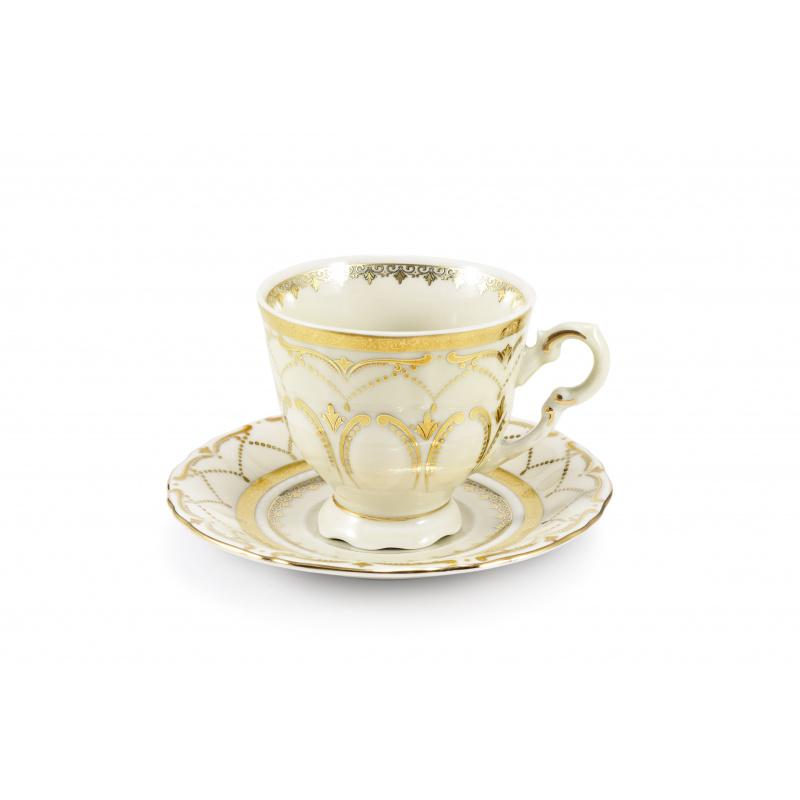 Tasse mit Untertasse 0,10 l Schloss Sonate Elfenbein
