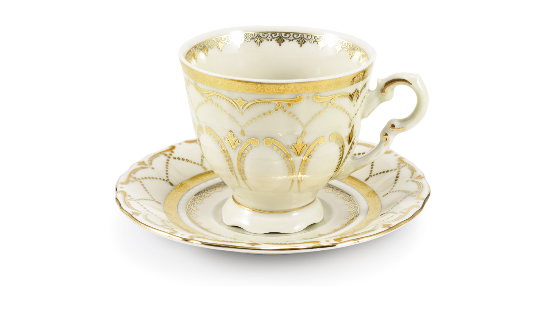 Cup and saucer 0.10 l Wedding sonata ivory