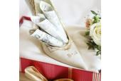 Frauen Schuhe linker Schloss Sonate Elfenbein