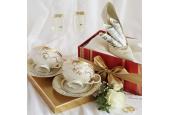 Dámská bota levá Svatební sonáta slonová kost