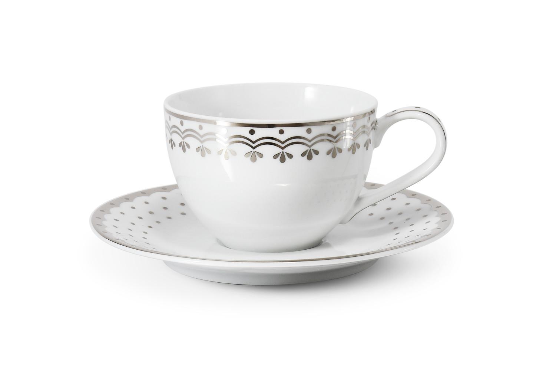 Cup and saucer 0.20 l HyggeLine platinum var.1