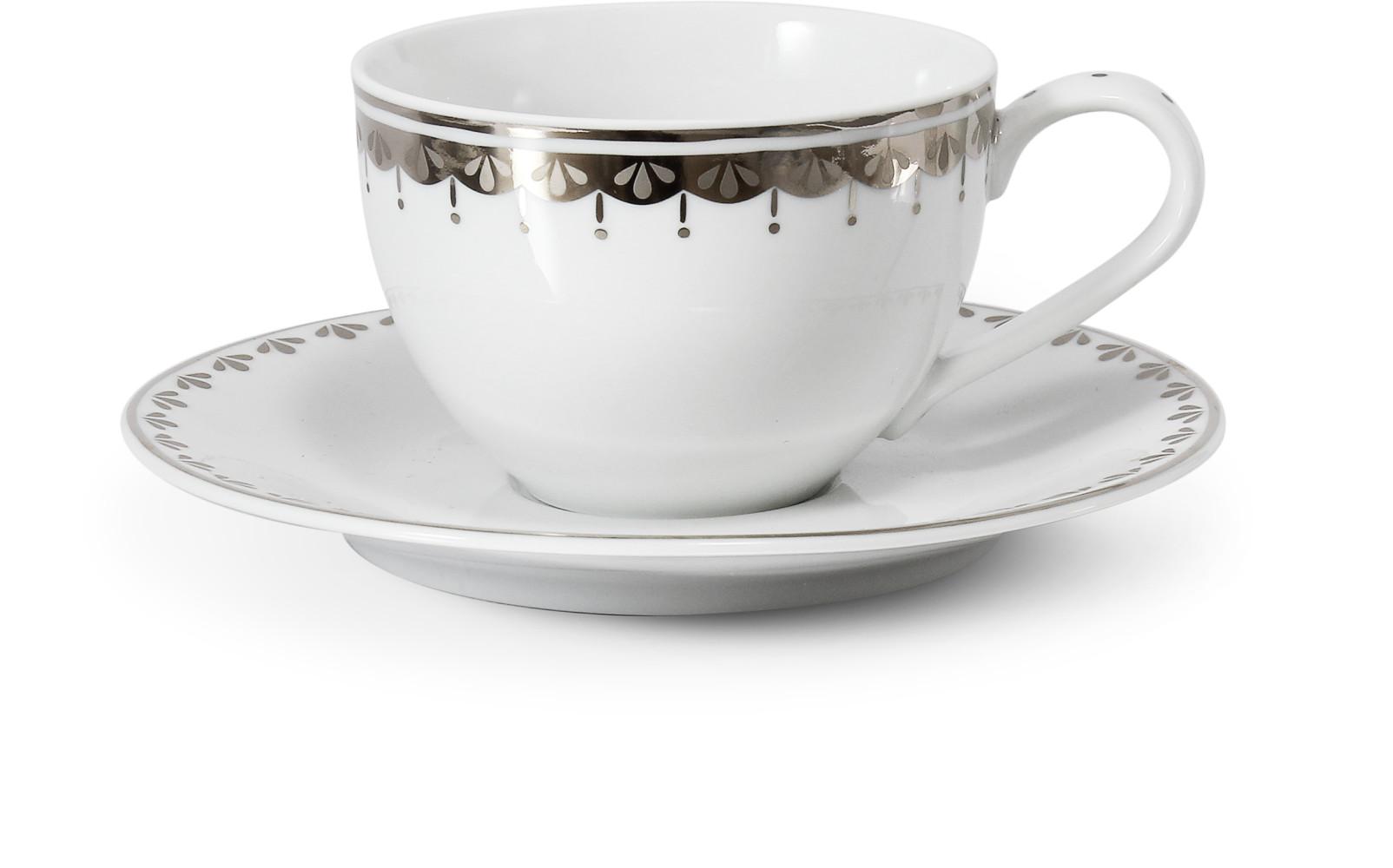 Cup and saucer 0.20 l HyggeLine platinum var.2