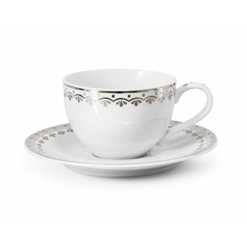 Cup and saucer 0.20 l HyggeLine platinum var.3
