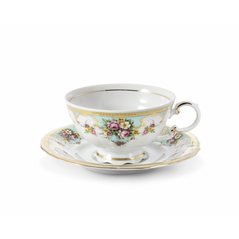 Cup and saucer 0.20 l Flower romance