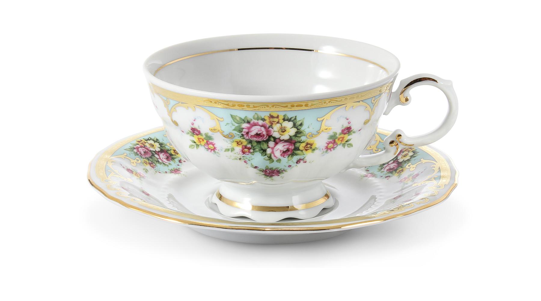 Tasse mit Untertasse 0,20 l Blumenromantik