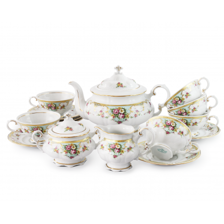 Tea set 15-piece Flower...