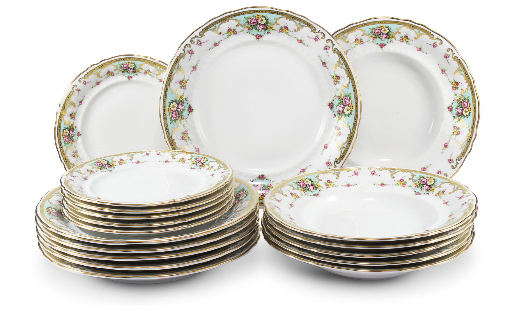 Plate set 18-piece Flower romance