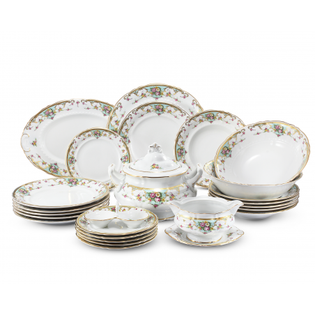 Dinner set 25-piece Flower...