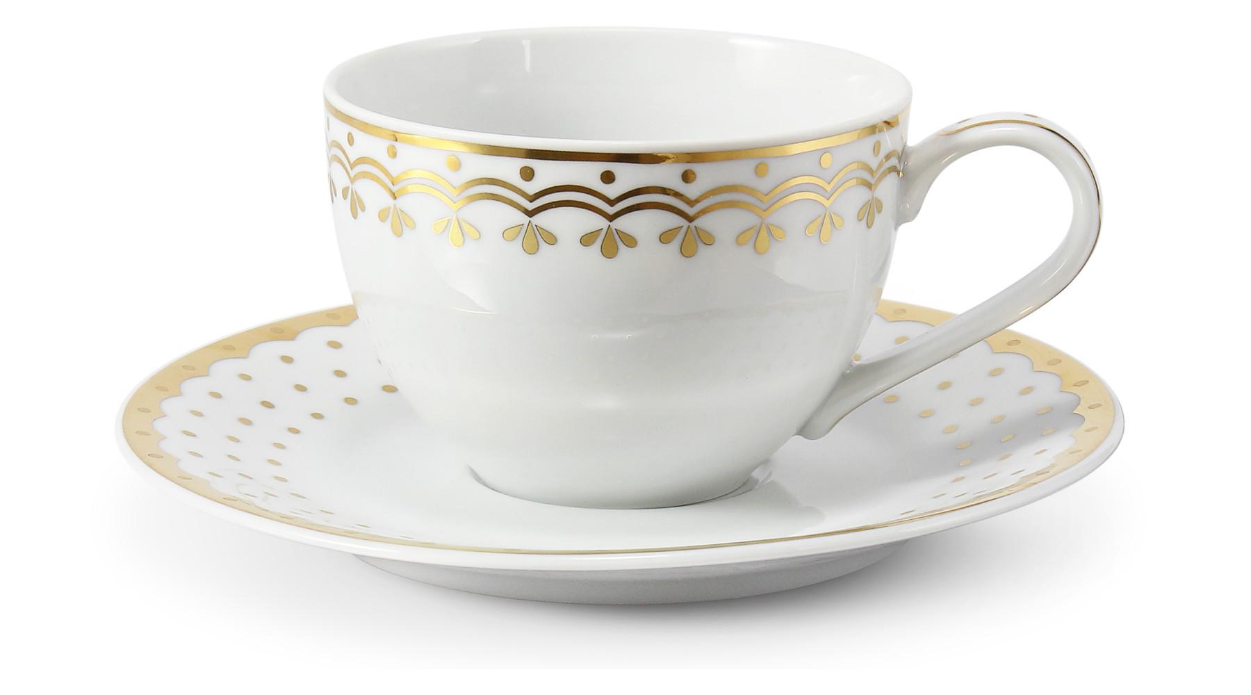 Tasse mit Untertasse 0,20 l HyggeLine Golden var.1