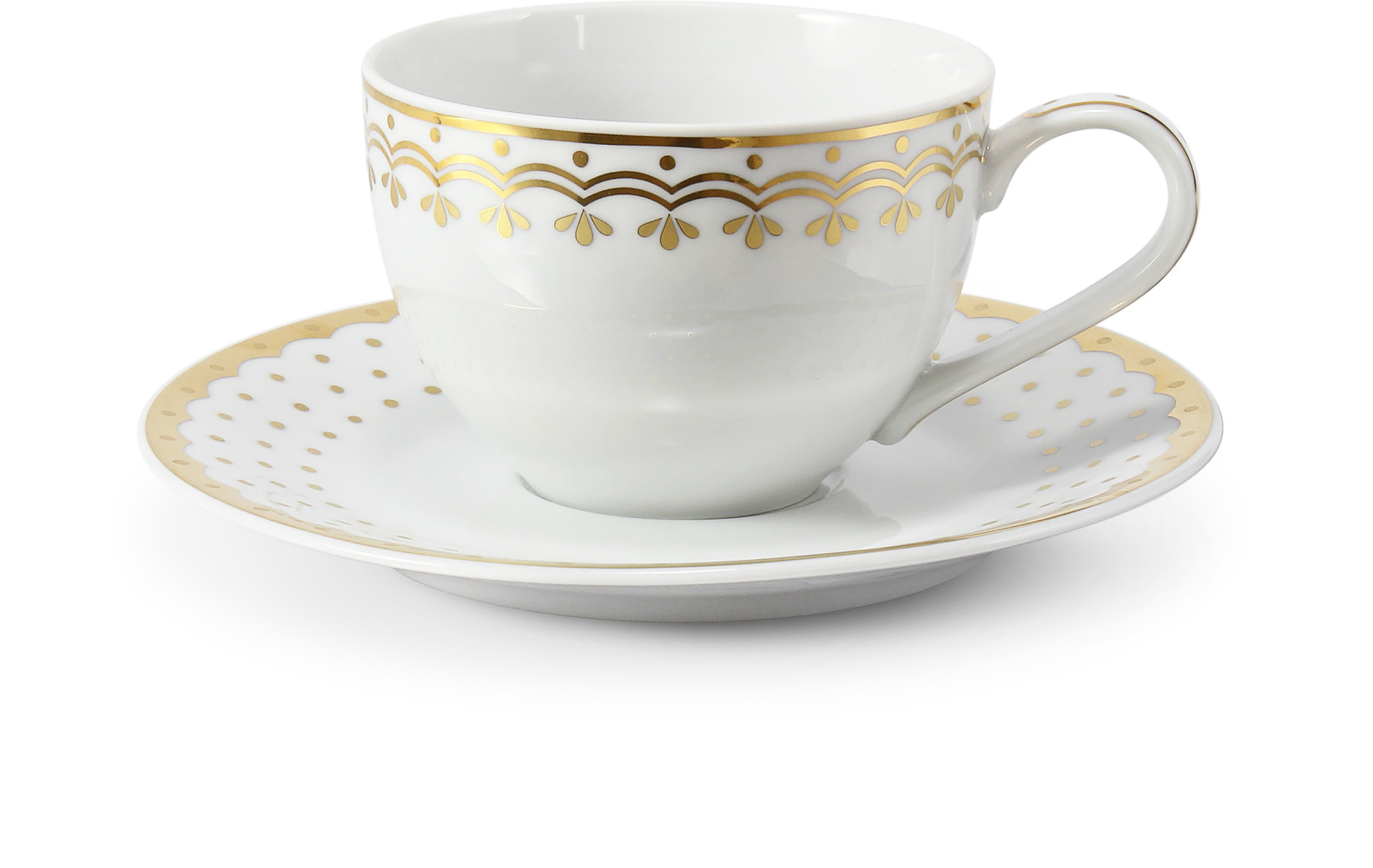Cup and saucer 0.20 l HyggeLine gilded var.1