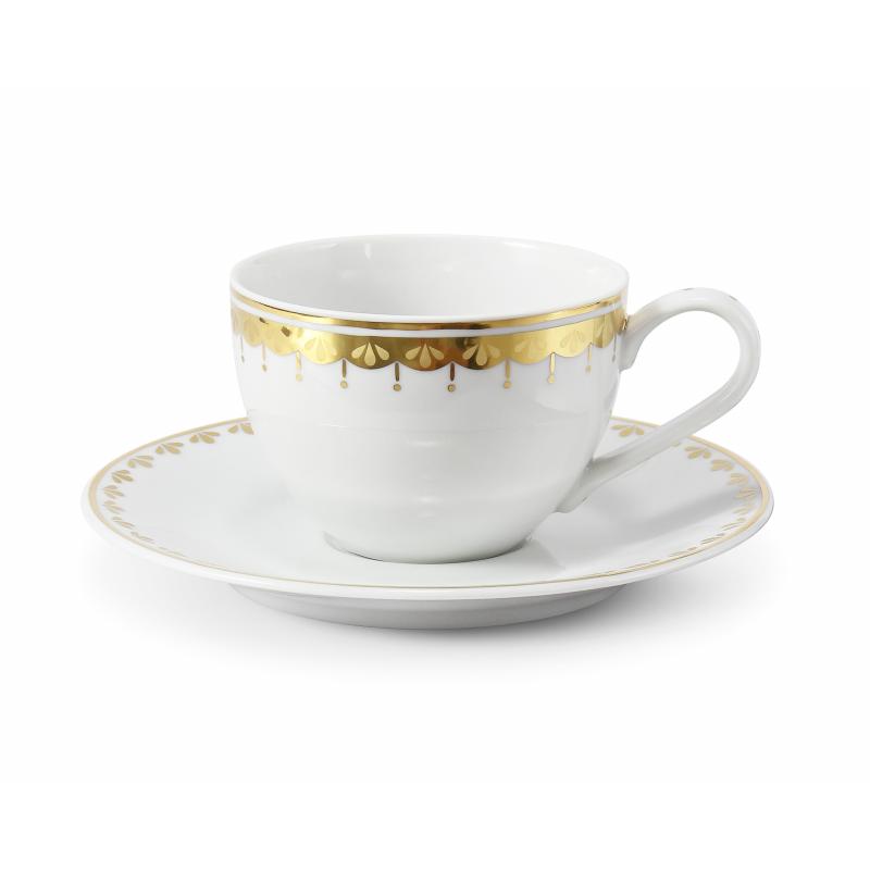 Tasse mit Untertasse 0,20 l HyggeLine Golden var.2