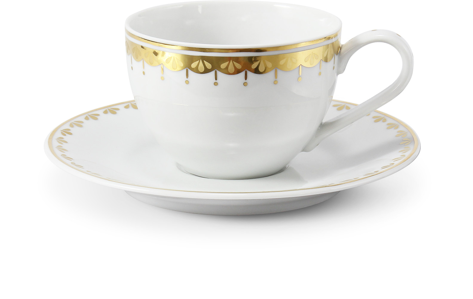 Cup and saucer 0.20 l HyggeLine gilded var.2