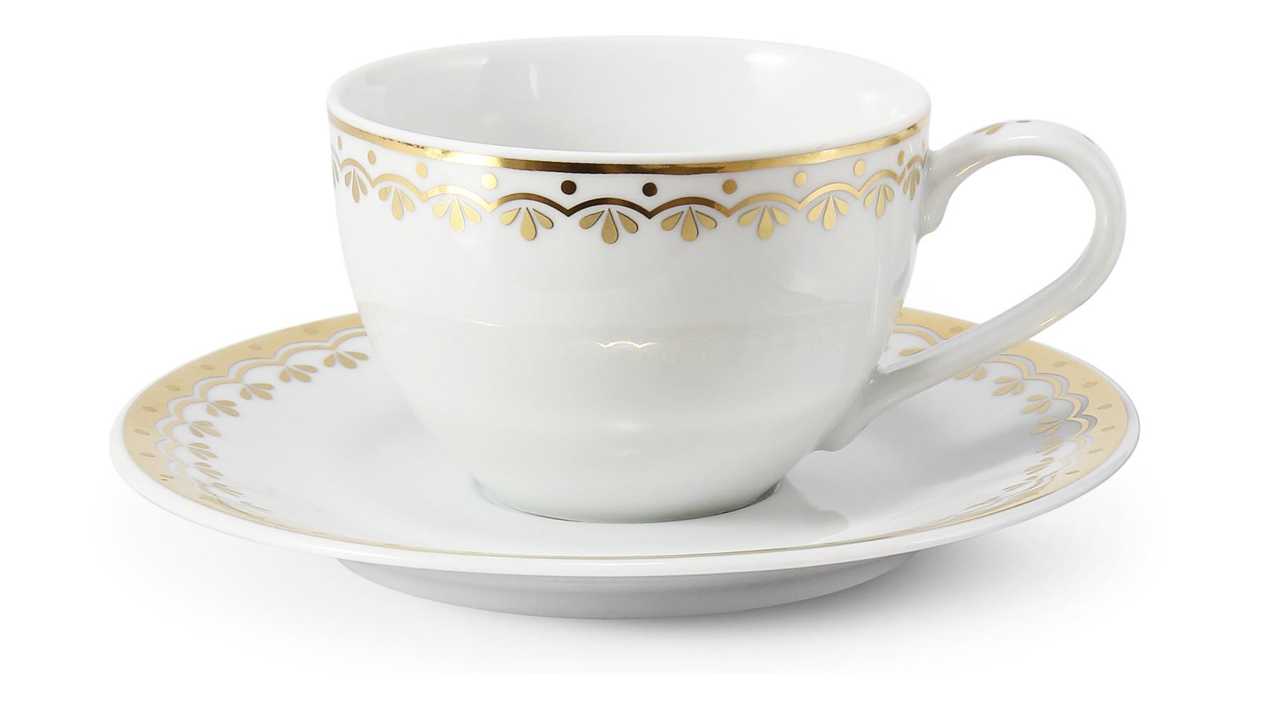 Tasse mit Untertasse HyggeLine Golden var.3