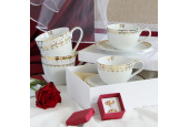 Cup and saucer 0.20 l HyggeLine gilded var.3
