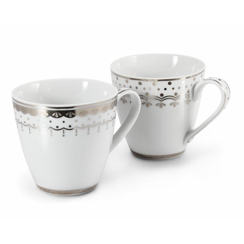 Set mit zwei Teetassen 0,30 l HyggeLine Platin