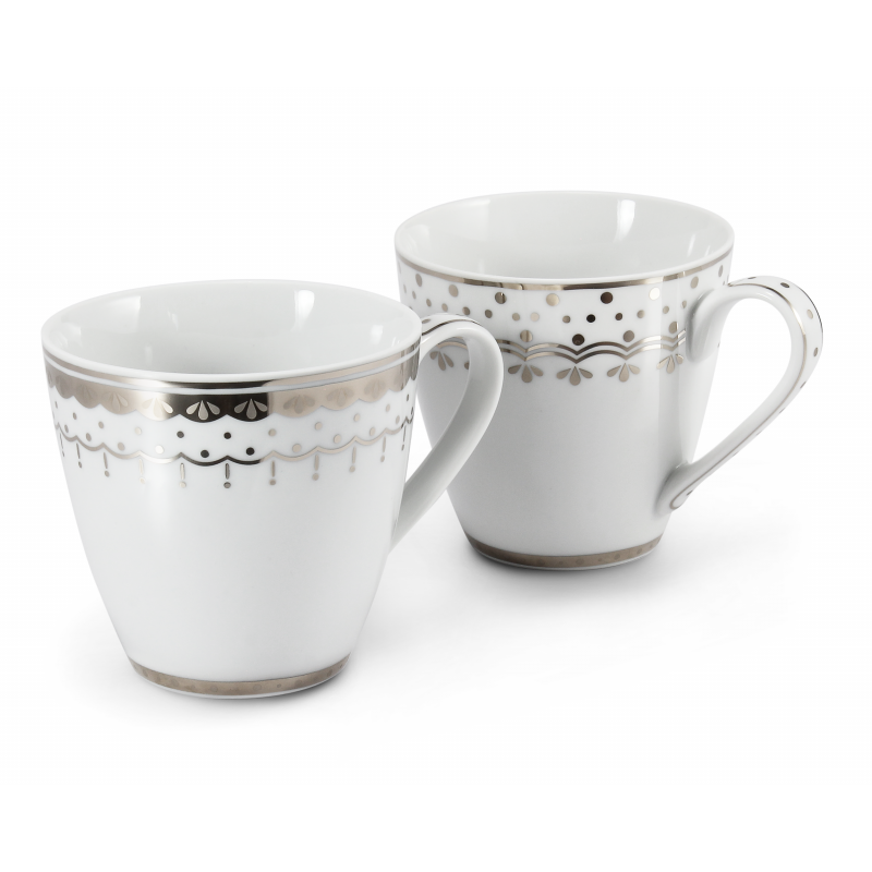 Set of two cups 0.30 l HyggeLine platinum