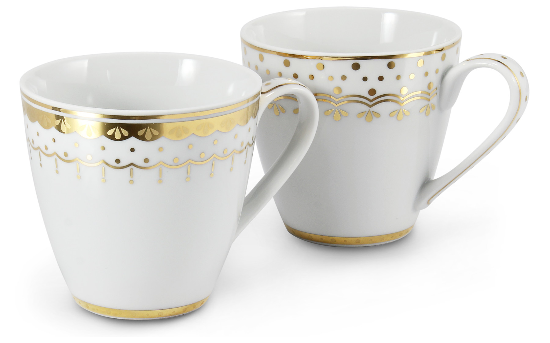 Set of two cups 0.30 l HyggeLine gilded