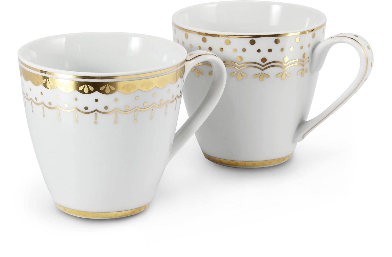 Set mit zwei Teetassen 0,30 l HyggeLine Golden