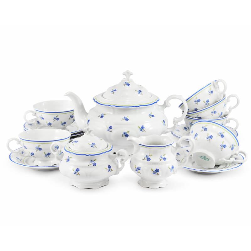 Tea set 15-piece Forget-me-nots