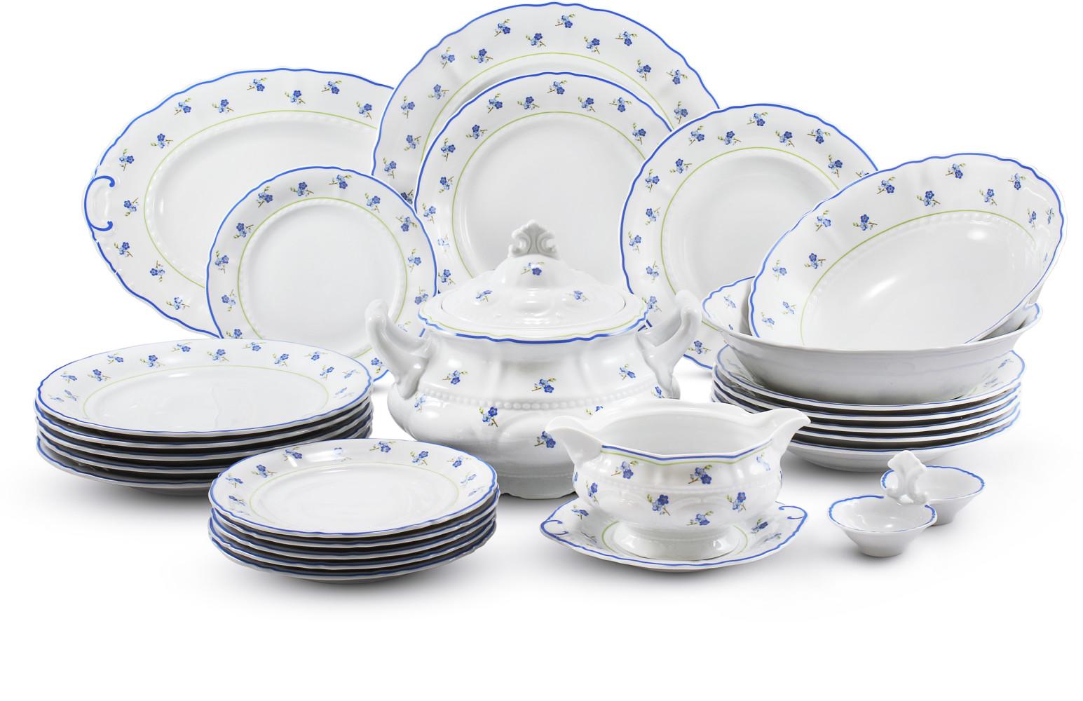 Dinner set 25-piece Forget-me-nots