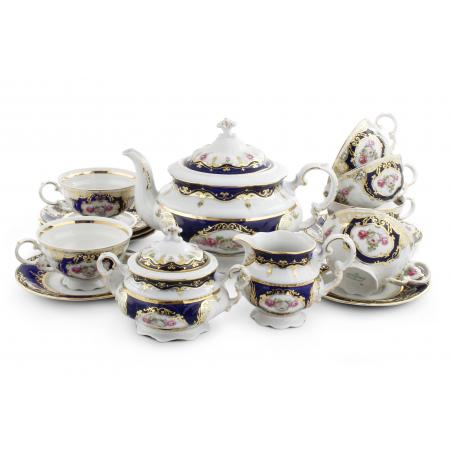 Tea set 15-piece - Cobalt...