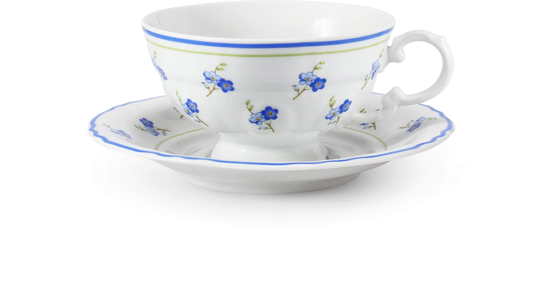 Cup and saucer 0.20 l Forget-me-nots