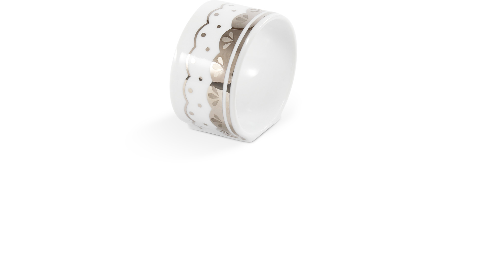 Kroužek na ubrousky HyggeLine v platině