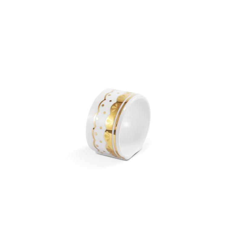 Kroužek na ubrousky HyggeLine ve zlatě