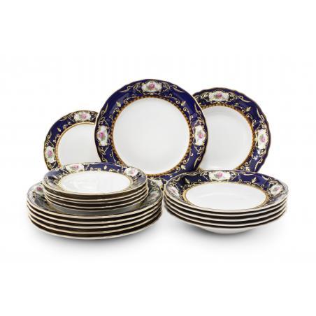 Plate set 18-piece - Cobalt...