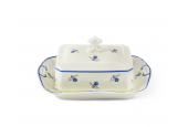Butter dish 0.250 kg Forget-me-nots ivory