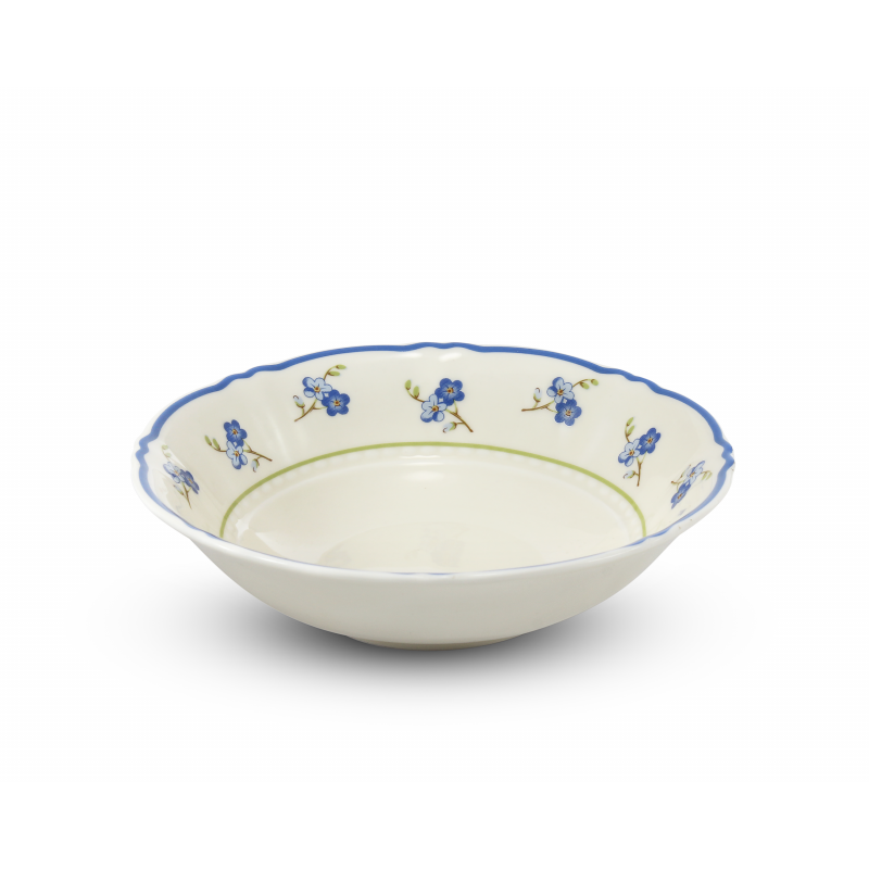Small bowl 13.5 cm Forget-me-nots ivory