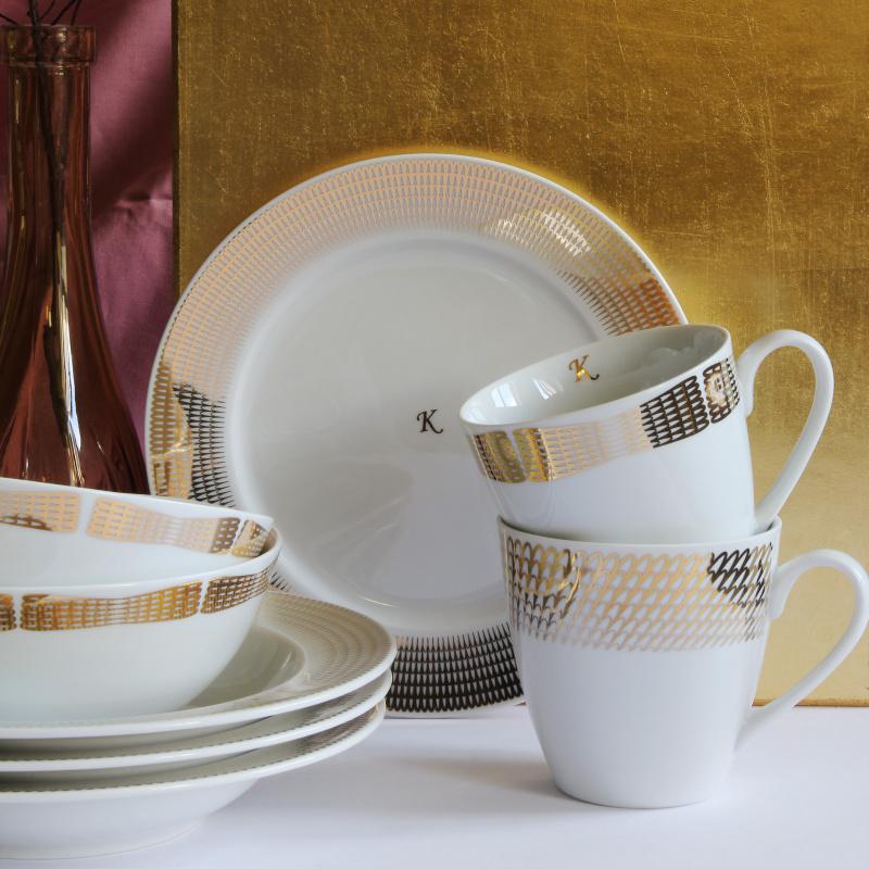 Set mit zwei Tassen Goldene Engelsflügel
