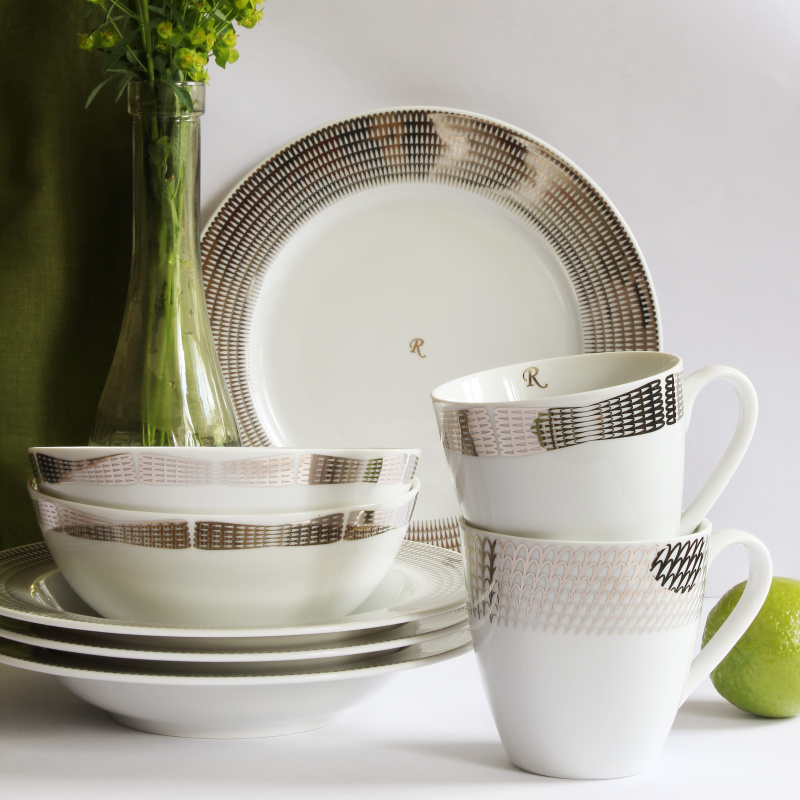 Dinner set 20-piece Silver angel wings